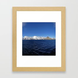 Antarctic Mountain Range Framed Art Print