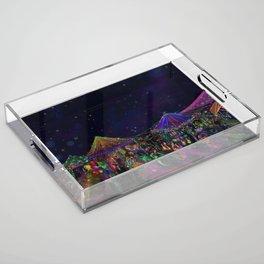 Magical Night Market Acrylic Tray