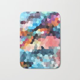 Geometric Painting Vibrants Bath Mat