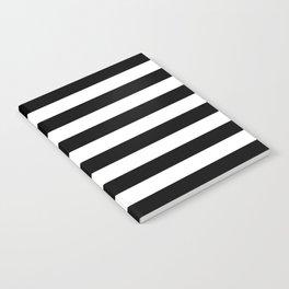 Black White Stripe Minimalist Notebook