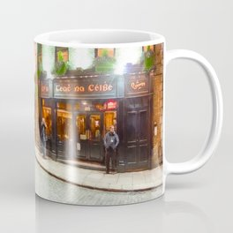 Dublin At Night - On The Streets of Temple Bar Coffee Mug
