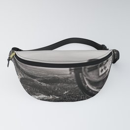 Mountain Tourist Binoculars Black and White Fanny Pack
