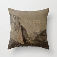 yosemite Throw Pillows featuring Yosemite by MillennialBrake