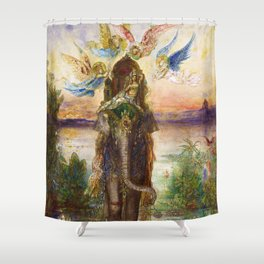 The Sacred Elephant (Péri) by Gustave Moreau Shower Curtain