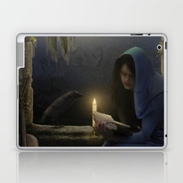 Reading in the moonlight Laptop & iPad Skin