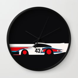 Moby Dick - Vintage Porsche 935/70 Le Mans Race Car Wall Clock