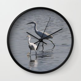 Egrets Wall Clock