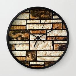 Villa Brickpaper Wall Clock