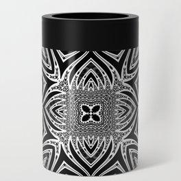 Black & White Tribal Symmetry Can Cooler