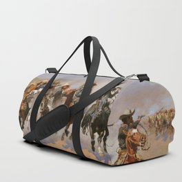 A Dash for the Timber - Frederic Remington Duffle Bag