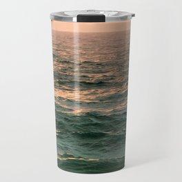 Pink Skies Ocean Vibes Travel Mug