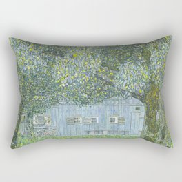 Upper Austrian Farmhouse by Gustav Klimt Rectangular Pillow