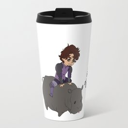 Man and his Hippo Travel Mug