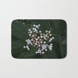 Viburnum tinus buds and flowers Bath Mat