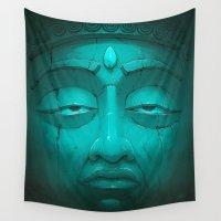 nirvana Wall Tapestries featuring Buddha I. by Dr. Lukas Brezak