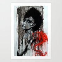 pain Art Prints featuring Pain by Clayton Young