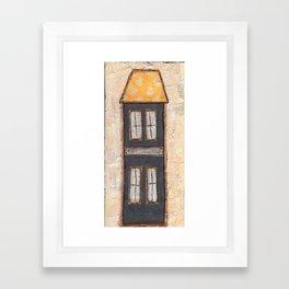 "6x12 Mixed Media ""House"" on Canvas Framed Art Print"