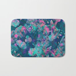Geometric Floral Bath Mat