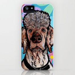 Parti Poodle iPhone Case