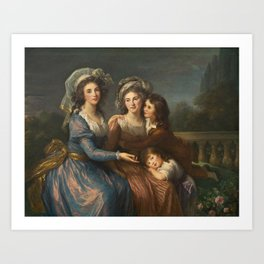 The Marquise de Pezay, and the Marquise de Rougé with Her Sons Alexis and Adrien by Élisabeth Vigée Le Brun Art Print