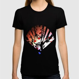 Japanese Maple Under Night Sky With Moon T-shirt
