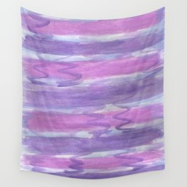 Purple Waves Wall Tapestry