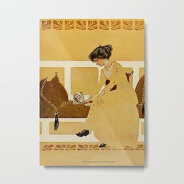 """C Coles Phillips 'Fadeaway Girl' """"Discarding From Strength"""" Metal Print"""