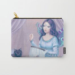 Ariadne Butterfly Peacock Fairy & Cat Carry-All Pouch
