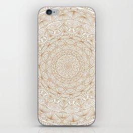 Brown Tan Intricate Detailed Hand Drawn Mandala Ethnic Pattern Design iPhone Skin