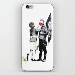 Banksy, Punk with mother iPhone Skin