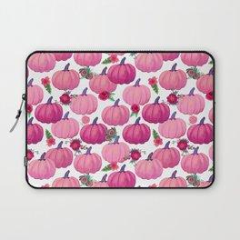 pink pumpkin fall watercolor, Thanksgiving Laptop Sleeve
