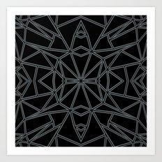 Ab Star Black and Grey Art Print