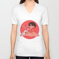 will graham V-neck T-shirts featuring Will Graham Cross Section by Charlotte Foley
