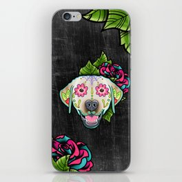 Labrador Retriever - Yellow Lab - Day of the Dead Sugar Skull Dog iPhone Skin