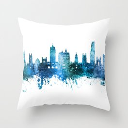New Haven Connecticut Skyline Throw Pillow