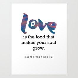 Love Is Food Art Print