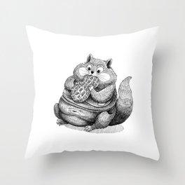 Fat Hamster Throw Pillow
