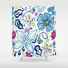 Fling Flowers Shower Curtain