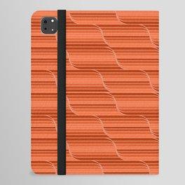 Geo Stripes - Rust Orange iPad Folio Case