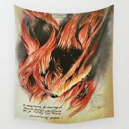 Shadow and Flame Wall Tapestry