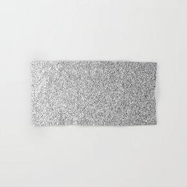 Beautiful Silver glitter sparkles Hand & Bath Towel