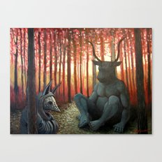 The Armadillo and the Bull Canvas Print