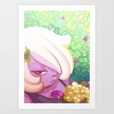 Chilling with Amethyst Art Print