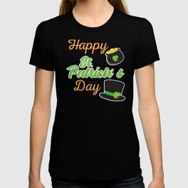Happy St. Patricks Day with hat T-shirt