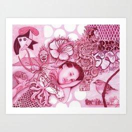 Picasso Dream Scape Art Print