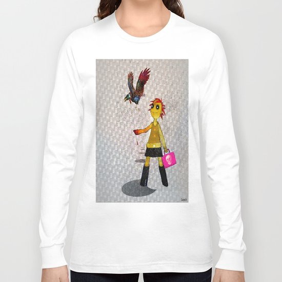 Miss Bella and Archibald his crow Long Sleeve T-shirt