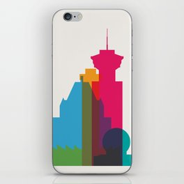 Shapes of Vancouver. Accurate to scale. iPhone Skin