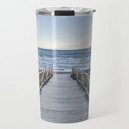 """Walking to the beach....."" At sunset Travel Mug"