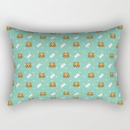 Teddy emoji pattern Rectangular Pillow