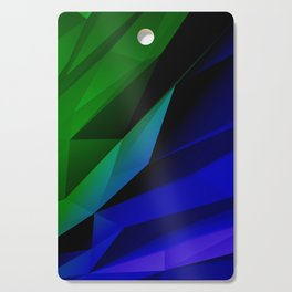 Geo Green and Blue Cutting Board